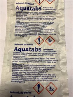 Aquatabs- desinficerende tabletter  - Blister 8 stk.